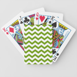 Fern Green and White Chevrons Bicycle Playing Cards