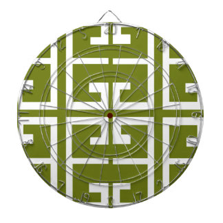 Fern Green and White Tile Dart Boards