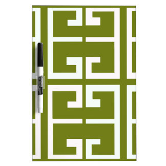 Fern Green and White Tile Dry-Erase Board