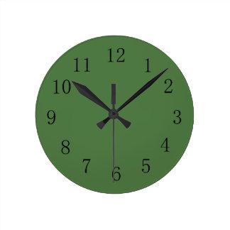 Fern Green Color Wall Clock