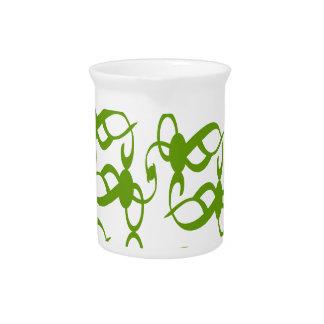 Fern Green Lace Beverage Pitcher