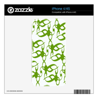 Fern Green Lace Skins For The iPhone 4S