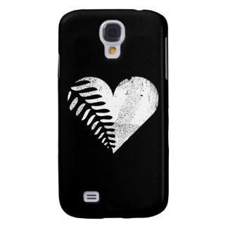 Fern Heart Dark Galaxy S4 Covers