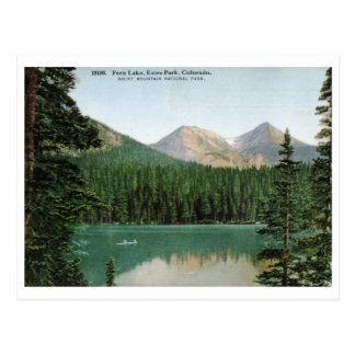 Fern Lake, Estes Park, Colorado Vintage Postcard