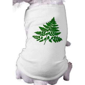 Fern leaf dog t-shirt