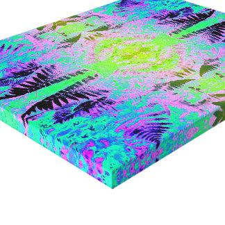 Fern Leaf Fractal Blue / Green Canvas Print