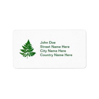 Fern leaf label