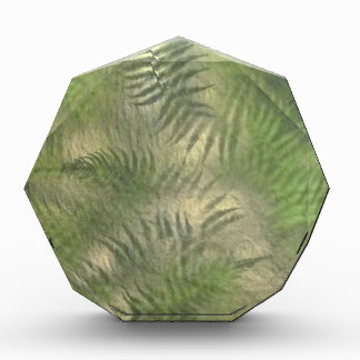 Fern Leaf Nature Outdoors Pattern Green Award