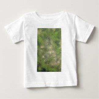 Fern Leaf Nature Outdoors Pattern Green Baby T-Shirt