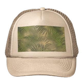Fern Leaf Nature Outdoors Pattern Green Mesh Hat