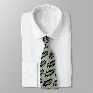Fern leaf neck tie
