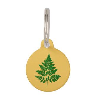 Fern leaf pet name tag