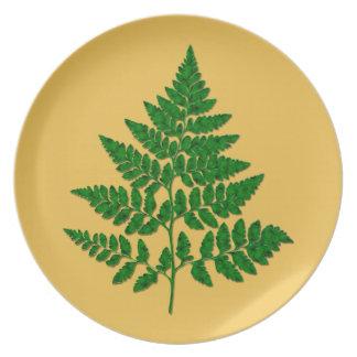 Fern leaf party plate