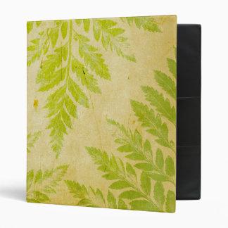 Fern Leaf Stamped Pattern Grungy Background Binder