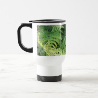 Fern Leaves. 15 Oz Stainless Steel Travel Mug