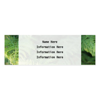 Fern Leaves Business Card Template