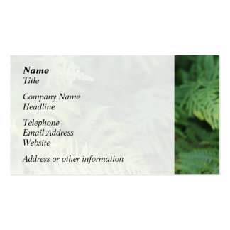Fern Leaves Business Card