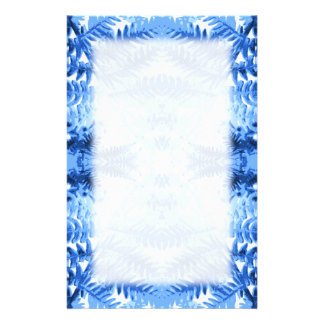 Fern Leaves, Design in Blue and White. Stationery Paper