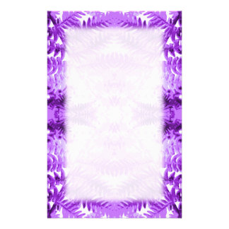 Fern Leaves, Design in Purple and White. Custom Stationery