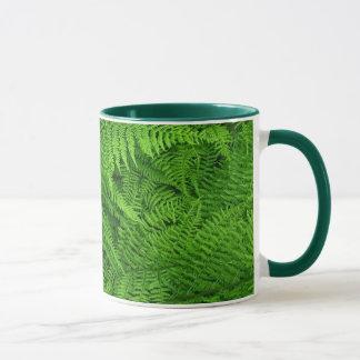 fern leaves mug