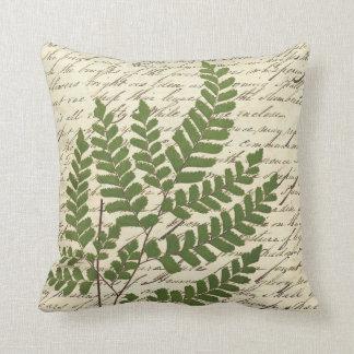 Fern on Script Pillow 1