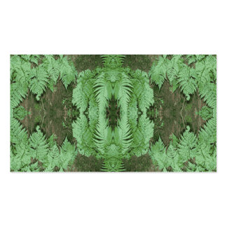 Fern Pattern Graphic Green Business Card