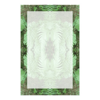 Fern Pattern Graphic. Green. Stationery