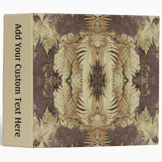 Fern Pattern Graphic. Khaki and brown. Binder