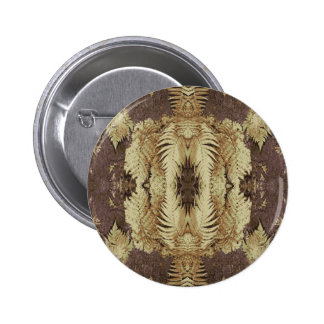 Fern Pattern Graphic. Khaki and brown. Pins