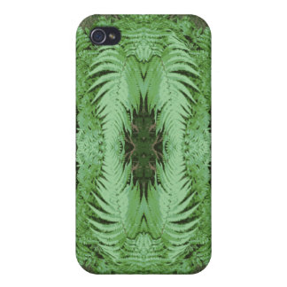 Fern Pern Graphic. Green. iPhone 4/4S Cases