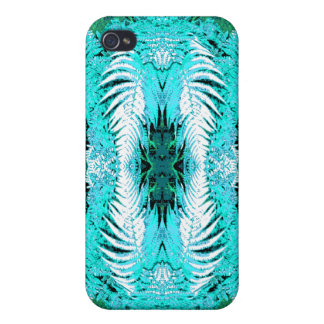 Fern Pern in Turquoise and Green. iPhone 4 Case