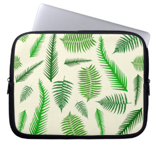 Fern Plant Frond Leaves Pattern Computer Sleeve
