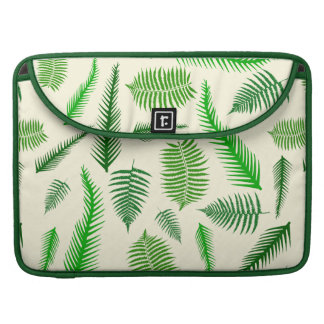 Fern Plant Frond Leaves Pattern Sleeves For MacBook Pro