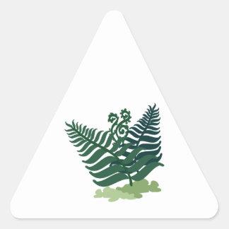 Fern Plant Triangle Sticker