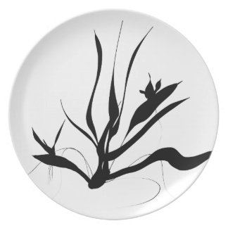 Fern Silhouette Plate