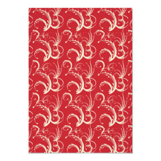 Fern Tendrils in Cream on Red Card