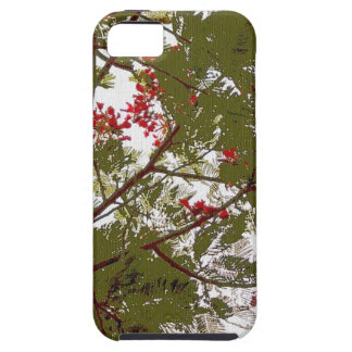 Fern Tree Red Flowers and Brown Branches Canvas iPhone SE/5/5s Case