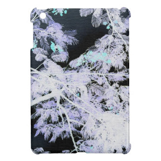 Fern Tree with Flowers- Negative iPad Mini Cases