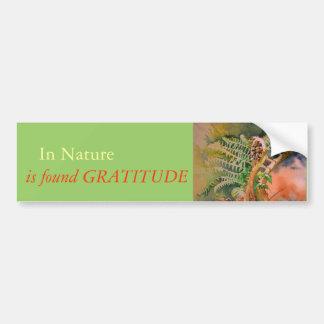 Fern Unfurling Watercolor Gratitude Bumper Sticker Car Bumper Sticker