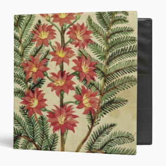 Fern with red and yellow flowers 3 ring binders