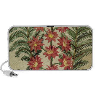 Fern with red and yellow flowers mp3 speakers