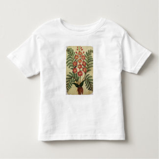 Fern with red and yellow flowers t shirt