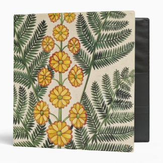 Fern with yellow flowers 3 ring binders