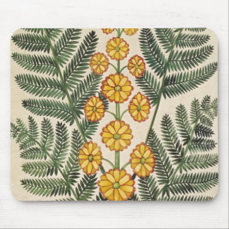 Fern with yellow flowers mouse pad