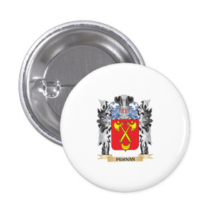 Fernan Coat of Arms - Family Crest 1 Inch Round Button