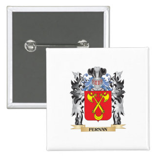 Fernan Coat of Arms - Family Crest 2 Inch Square Button