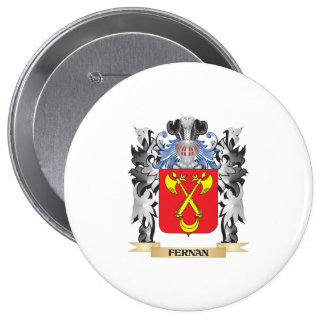Fernan Coat of Arms - Family Crest 4 Inch Round Button