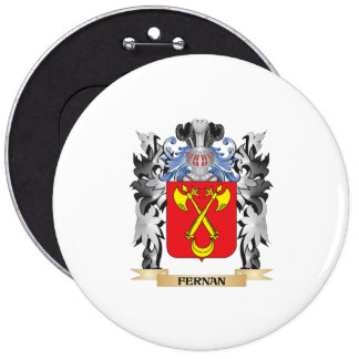 Fernan Coat of Arms - Family Crest 6 Inch Round Button