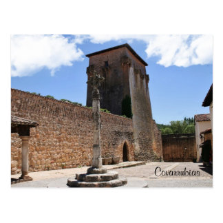 Fernán González Tower in Covarrubias Postcard
