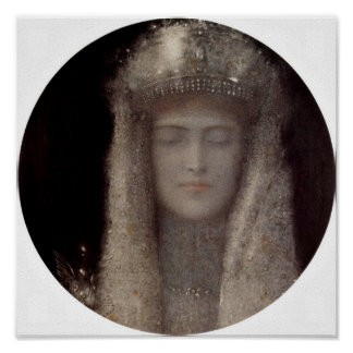 Fernand Khnopff - The Silver Tiara Posters